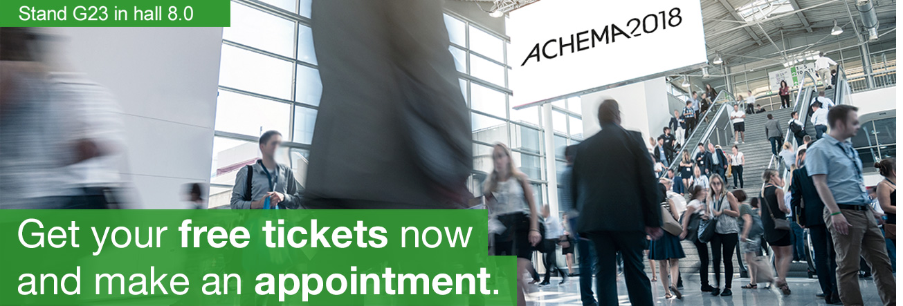 ACHEMA 2018 - get your free tickets now and make an appointment