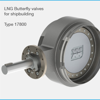 Butt welded butterfly valve type 17800
