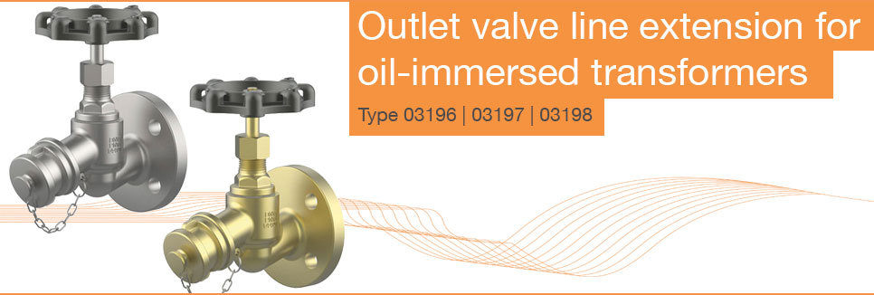 Outlet valve line extension for oil-immersed transformers